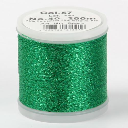 57/9842 Metallic №40 вискоза/металлизированный полиэфир для вышивания, 200 м