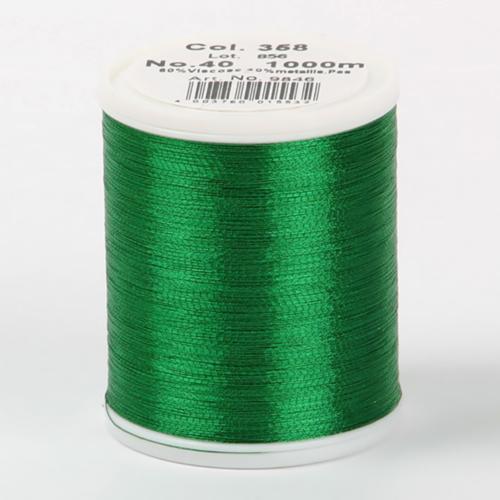 9846/358 Metallic №40 вискоза/металлизированный полиэфир для вышивания, 1000 м