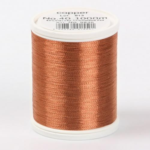 9846/copper Metallic №40 вискоза/металлизированный полиэфир для вышивания, 1000 м