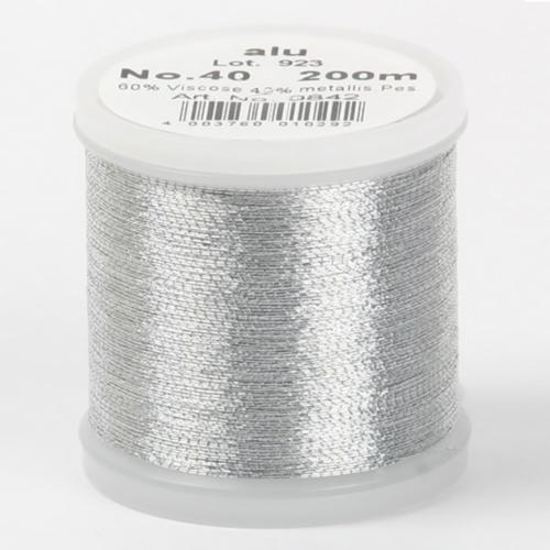alu/9842 Metallic №40 вискоза/металлизированный полиэфир для вышивания, 200 м