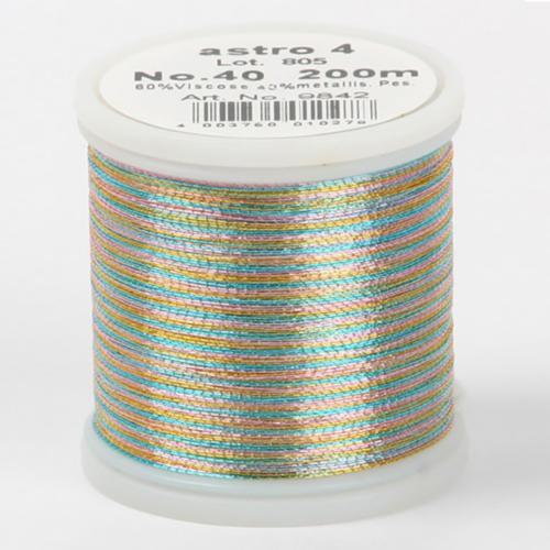 astro 4/9842 Metallic №40 вискоза/металлизированный полиэфир для вышивания, 200 м