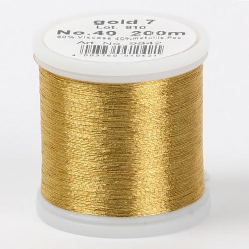 gold 7/9842 Metallic №40 вискоза/металлизированный полиэфир для вышивания, 200 м