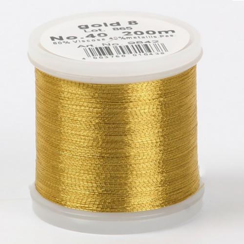 gold 8/9842 Metallic №40 вискоза/металлизированный полиэфир для вышивания, 200 м