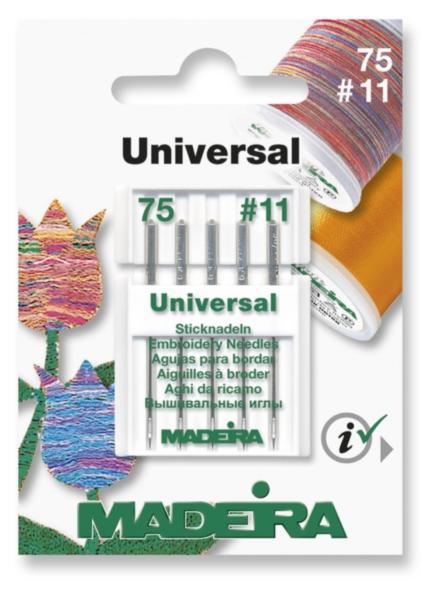 9450 Иглы вышивальные универсальные 7511 (5 иглкарточка) Madeira