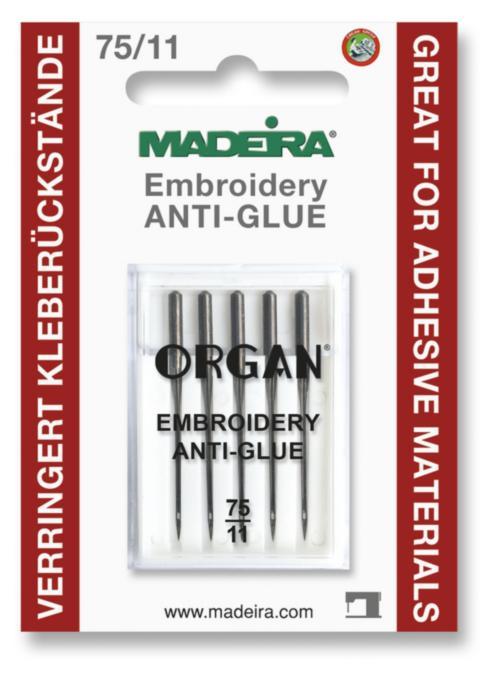 9456 Иглы для клеевых стабилизаторов Анти-клей 75/11 (5 игл) Madeira
