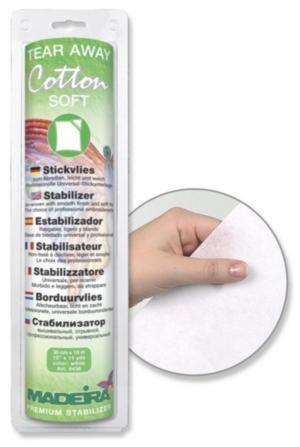 9436 Стабилизатор Cotton Soft белый отрывной, для всех видов ткани, 30см 10м Madeira