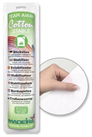 9438 Стабилизатор Cotton Stable отрывной, термоприклеивающийся, для эластичных тканей, 30 см 5 м Madeira