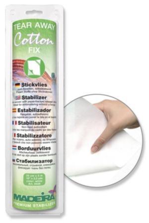 9439 Cтабилизатор Cotton Fix отрывной, самоприклеивающийся, для капризных тканей, 25 см 3 м Madeira