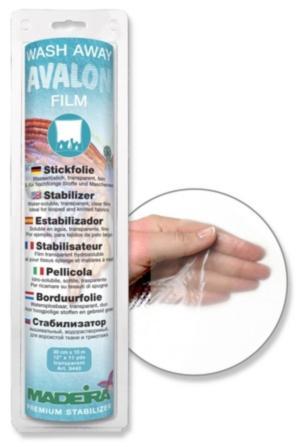 9440 Стабилизатор Avalon Film водорастворимый, прозрачный, тонкий, для ворсистых и тонких тканей, трикотажа 30см 10м Madeira