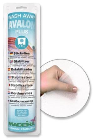 9442 Стабилизатор Avalon Plus водорастворимый, для легких, деликатных тканей, кружев, монограмм, ришелье, квильтов, 30см 3м Madeira