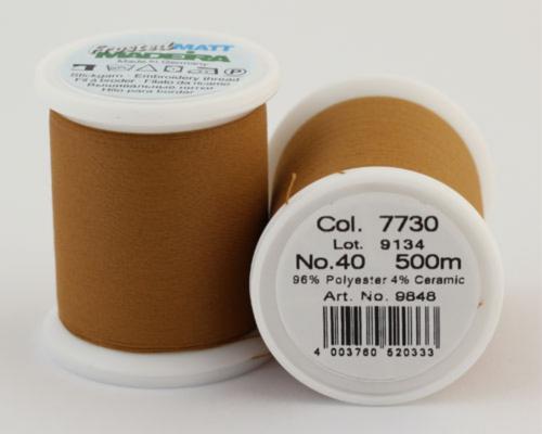 7730/9848 Frosted MATT экстра матовые вышивальные нити, 96% полиэстер, 4% керамика, 500 м