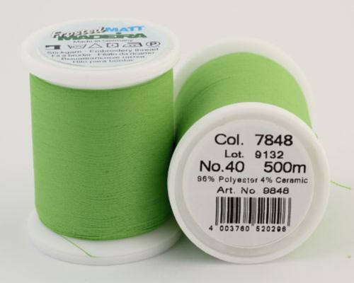 7848/9848 Frosted MATT экстра матовые вышивальные нити, 96% полиэстер, 4% керамика, 500 м