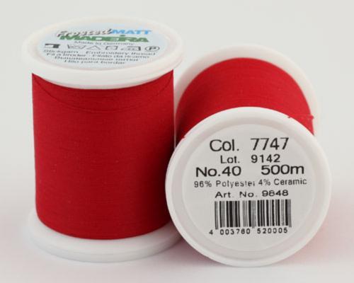 7747/9848 Frosted MATT экстра матовые вышивальные нити, 96% полиэстер, 4% керамика, 500 м