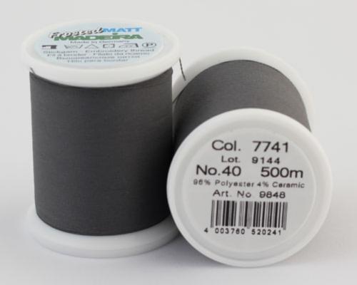7741/9848 Frosted MATT экстра матовые вышивальные нити, 96% полиэстер, 4% керамика, 500 м