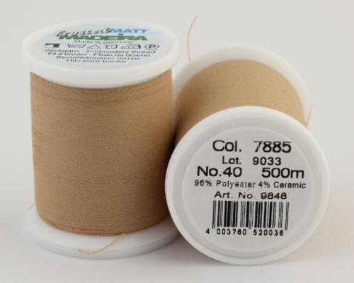 7885/9848 Frosted MATT экстра матовые вышивальные нити, 96% полиэстер, 4% керамика, 500 м