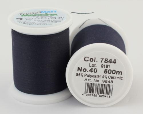 7844/9848 Frosted MATT экстра матовые вышивальные нити, 96% полиэстер, 4% керамика, 500 м
