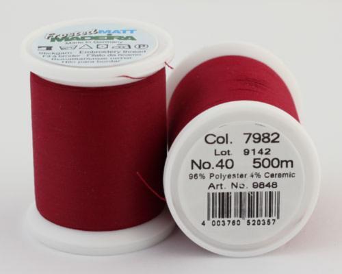 7982/9848 Frosted MATT экстра матовые вышивальные нити, 96% полиэстер, 4% керамика, 500 м