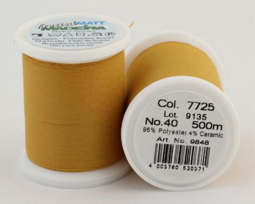 7725/9848 Frosted MATT экстра матовые вышивальные нити, 96% полиэстер, 4% керамика, 500 м