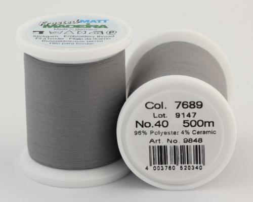7689/9848 Frosted MATT экстра матовые вышивальные нити, 96% полиэстер, 4% керамика, 500 м