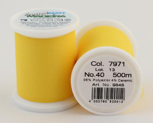 7971/9848 Frosted MATT экстра матовые вышивальные нити, 96% полиэстер, 4% керамика, 500 м
