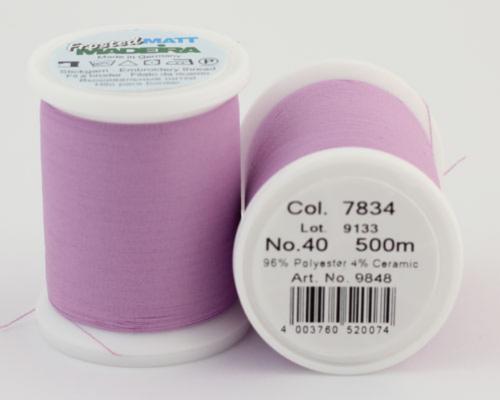 7834/9848 Frosted MATT экстра матовые вышивальные нити, 96% полиэстер, 4% керамика, 500 м