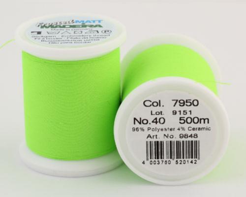 7950/9848 Frosted MATT экстра матовые вышивальные нити, 96% полиэстер, 4% керамика, 500 м