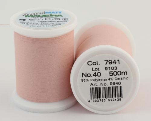 7941/9848 Frosted MATT экстра матовые вышивальные нити, 96% полиэстер, 4% керамика, 500 м