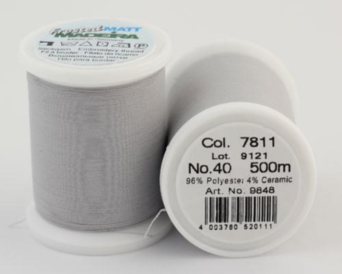 7811/9848 Frosted MATT экстра матовые вышивальные нити, 96% полиэстер, 4% керамика, 500 м