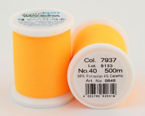 7937/9848 Frosted MATT экстра матовые вышивальные нити, 96% полиэстер, 4% керамика, 500 м