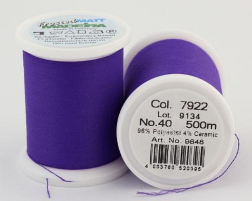 7922/9848 Frosted MATT экстра матовые вышивальные нити, 96% полиэстер, 4% керамика, 500 м