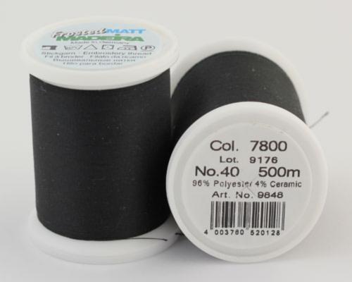 7800/9848 Frosted MATT экстра матовые вышивальные нити, 96% полиэстер, 4% керамика, 500 м