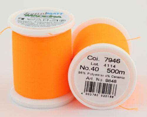 7946/9848 Frosted MATT экстра матовые вышивальные нити, 96% полиэстер, 4% керамика, 500 м