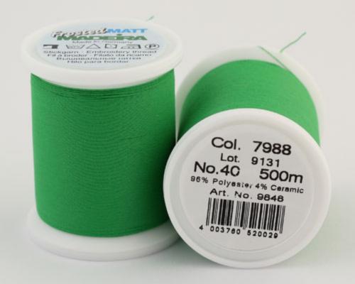 7988/9848 Frosted MATT экстра матовые вышивальные нити, 96% полиэстер, 4% керамика, 500 м
