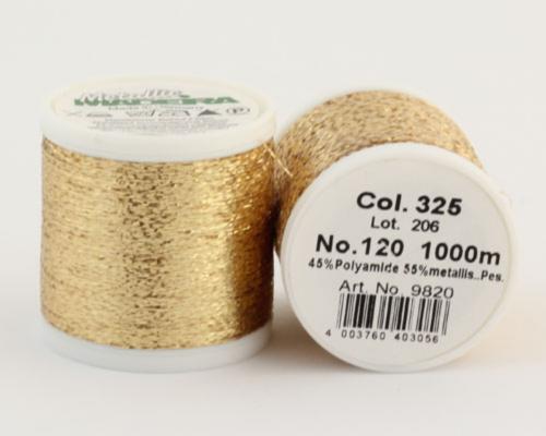 325/9820 METALLIC №120 Декоративная нитка для добавления в вязальную нить, 1000 м