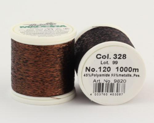 328/9820 METALLIC №120 Декоративная нитка для добавления в вязальную нить, 1000 м