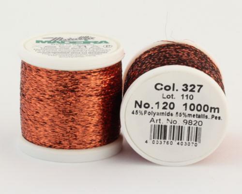 327/9820 METALLIC №120 Декоративная нитка для добавления в вязальную нить, 1000 м