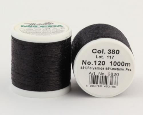 380/9820 METALLIC №120 Декоративная нитка для добавления в вязальную нить, 1000 м