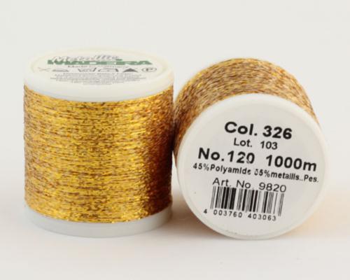 326/9820 METALLIC №120 Декоративная нитка для добавления в вязальную нить, 1000 м