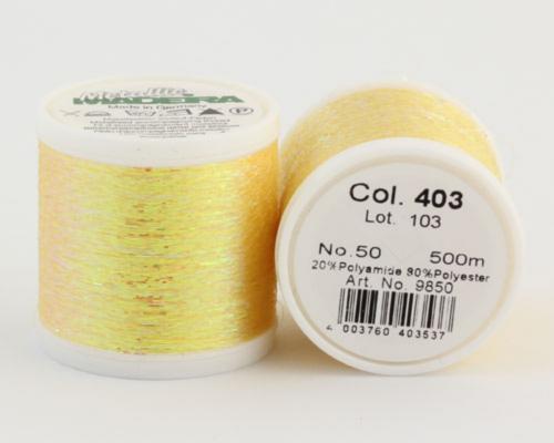 403/9850 METALLIC №50 Декоративная нитка для добавления в вязальную нить, 500 м