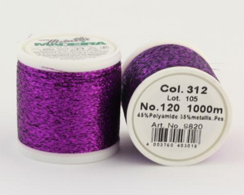 312/9820 METALLIC №120 Декоративная нитка для добавления в вязальную нить, 1000 м