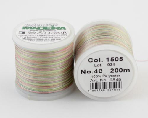 1505/9845 Polyneon №40 высокопрочная вышивальная нить, 100% полиэстер, 400 м