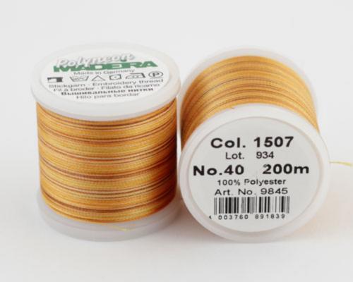 1507/9845 Polyneon №40 высокопрочная вышивальная нить, 100% полиэстер, 400 м
