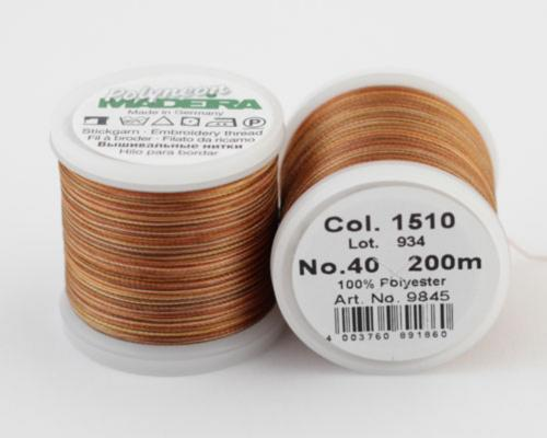 1510/9845 Polyneon №40 высокопрочная вышивальная нить, 100% полиэстер, 400 м
