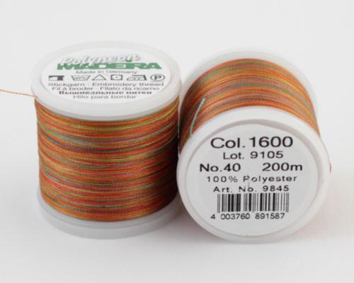 1600/9845 Polyneon №40 высокопрочная вышивальная нить, 100% полиэстер, 400 м