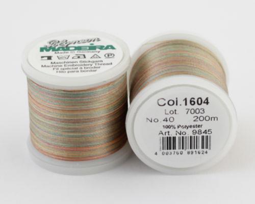 1604/9845 Polyneon №40 высокопрочная вышивальная нить, 100% полиэстер, 400 м