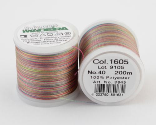 1605/9845 Polyneon №40 высокопрочная вышивальная нить, 100% полиэстер, 400 м