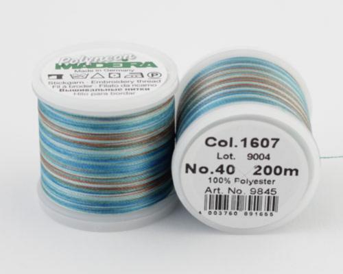 1607/9845 Polyneon №40 высокопрочная вышивальная нить, 100% полиэстер, 400 м