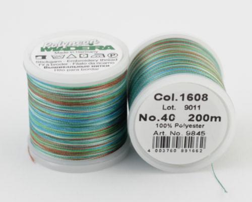 1608/9845 Polyneon №40 высокопрочная вышивальная нить, 100% полиэстер, 400 м