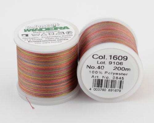 1609/9845 Polyneon №40 высокопрочная вышивальная нить, 100% полиэстер, 200 м