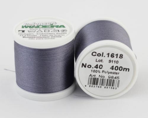1618/9845 Polyneon №40 высокопрочная вышивальная нить, 100% полиэстер, 400 м